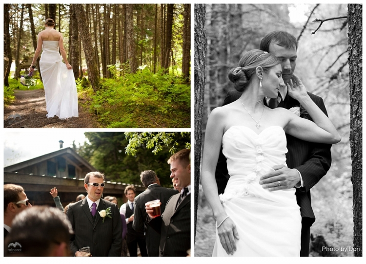 Portraits of Pat and Naomi in the fertile Alaskan forest during their June 2011 Wedding