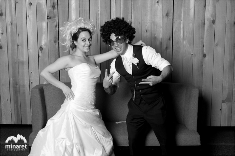 photo booth wedding photography at Mammoth Mountain