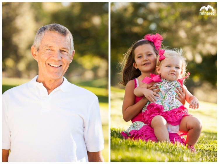 Reno family portrait photographer at Caughlin Ranch Park with 2 kids and 3 generations