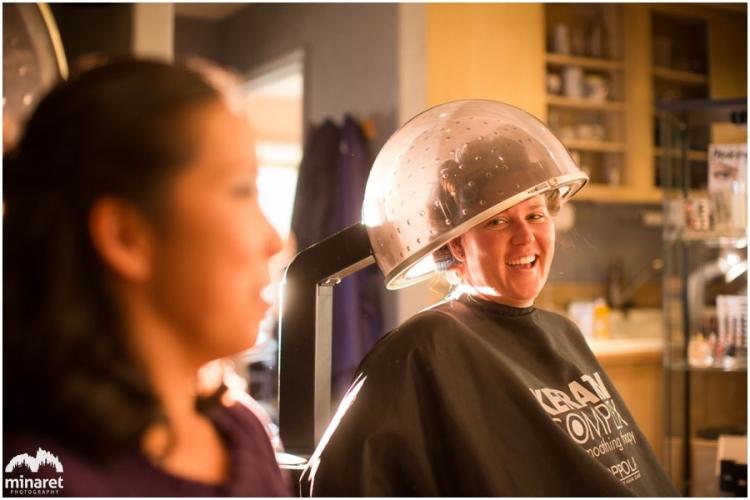hair salon prep in Mammoth at Dan and Candice