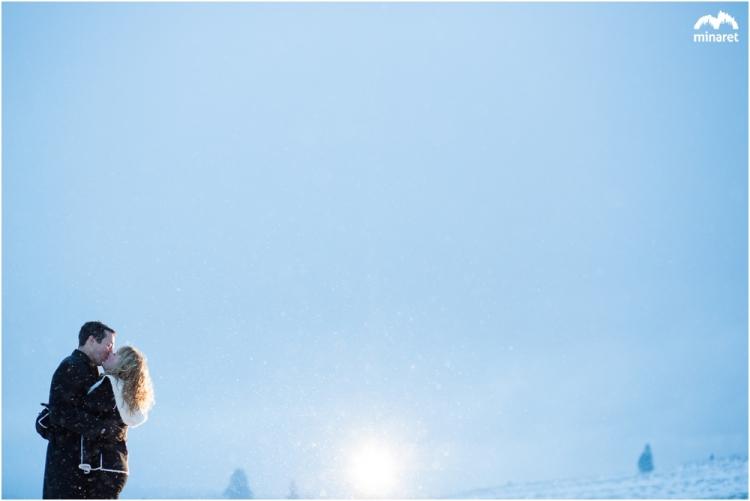 Sunrise engagement photography by lake tahoe wedding photographer