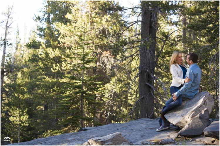 engagement photography at Mammoth Lakes Basin, California