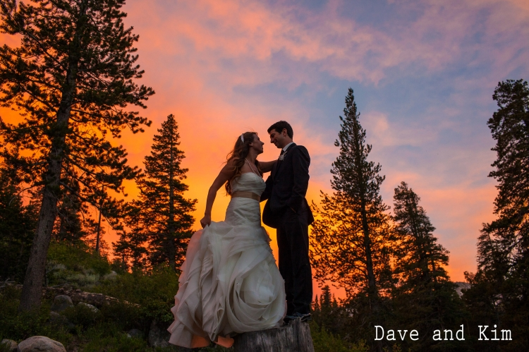 Mammoth Mountain wedding photographer at Twin Lakes, Forrest chapel