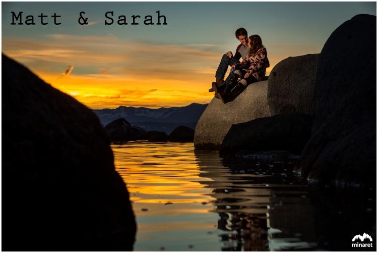 Lake Tahoe Sunset engagement photographer, wedding photography at lake tahoe