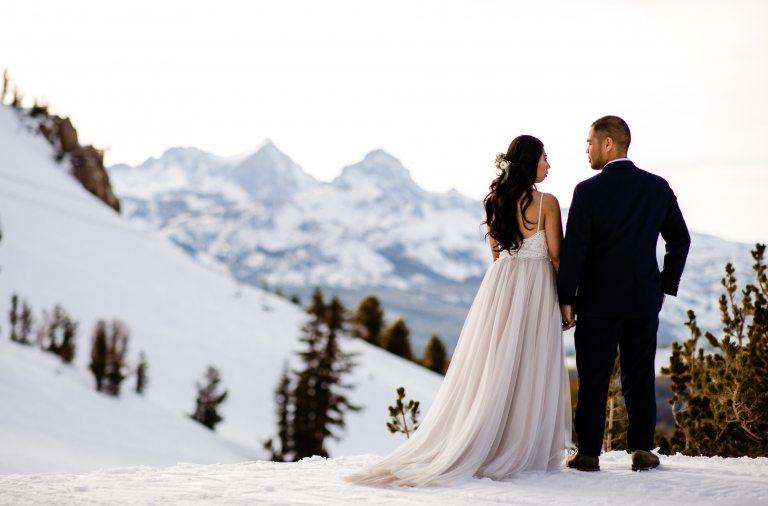 Mammoth Lakes Winter Wedding In The Snow With Christie And Don